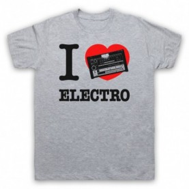 I Love Electro Funk 808 Drum Machine Mens Heather Grey T-Shirt