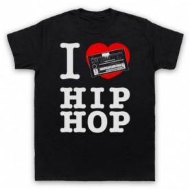 I Love Hip Hop 808 Drum Machine Mens Black T-Shirt
