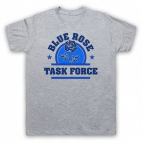 Twin Peaks Blue Rose Task Force Mens Heather Grey T-Shirt