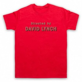 Twin Peaks Directed By David Lynch Mens Red T-Shirt