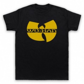 Wu-Tang Clan Wuhan Clan Pandemic Parody Mens Black T-Shirt