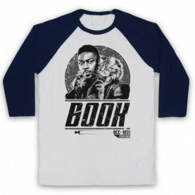 Star Trek Discovery Cleveland Book Booker Adults White And Navy Blue Baseball Tee