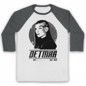 Star Trek Discovery Keyla Detmar Adults White And Grey Baseball Tee