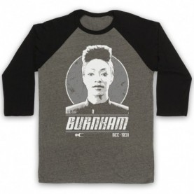 Star Trek Discovery Michael Burnham Adults Grey And Black Baseball Tee