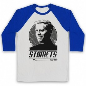 Star Trek Discovery Paul Stamets Adults White And Royal Blue Baseball Tee