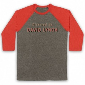 Twin Peaks Directed By David Lynch Adults Grey And Light Red Baseball Tee