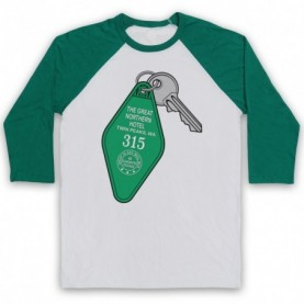 Twin Peaks Hotel Room 315 Key The Great Northen Hotel Adults White And Green Baseball Tee