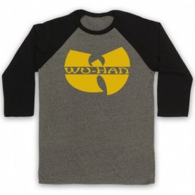 Wu-Tang Clan Wuhan Clan Pandemic Parody Adults Grey And Black Baseball Tee