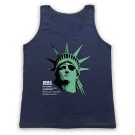 Escape From New York Statue Of Liberty Adults Navy Blue Tank Top
