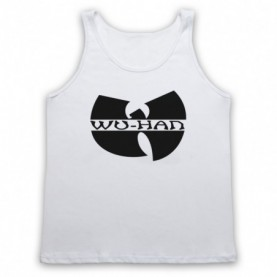 Wu-Tang Clan Wuhan Clan Pandemic Parody Adults White Tank Top