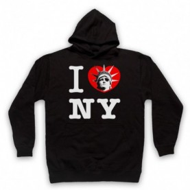 Escape From New York I Love NY Statue Of Liberty Adults Black Hoodie