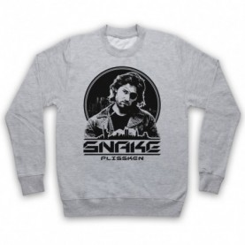 Escape From New York LA Snake Plissken Adults Heather Grey Sweatshirt