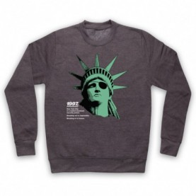 Escape From New York Statue Of Liberty Adults Charcoal Sweatshirt
