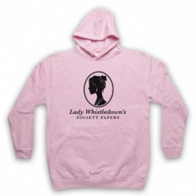 Bridgerton Lady Whistledown's Society Papers Adults Light Pink Hoodie