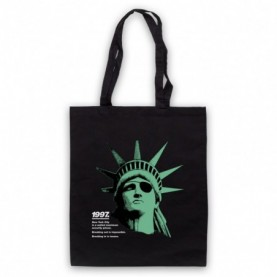 Escape From New York Statue Of Liberty Black Tote Bag