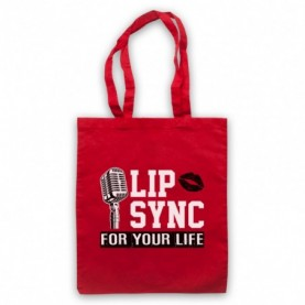 Rupaul's Drag Race Lip Sync For Your Life Red Tote Bag