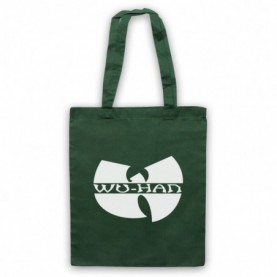 Wu-Tang Clan Wuhan Clan Pandemic Parody Dark Green Tote Bag