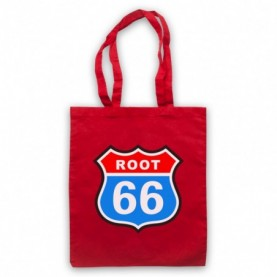 Joe Root Route 66 Parody England Cricket Red Tote Bag