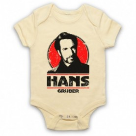 Die Hard Hans Gruber Light Yellow Baby Grow
