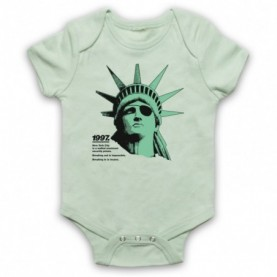 Escape From New York Statue Of Liberty Light Green Baby Grow