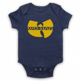 Wu-Tang Clan Wuhan Clan Pandemic Parody Navy Blue Baby Grow
