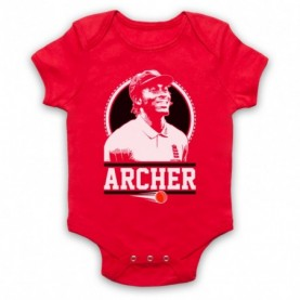 Jofra Archer England Cricket Tribute Red Baby Grow