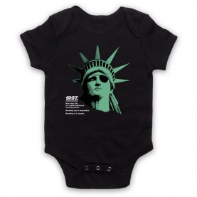 Escape From New York Statue Of Liberty Black Baby Grow