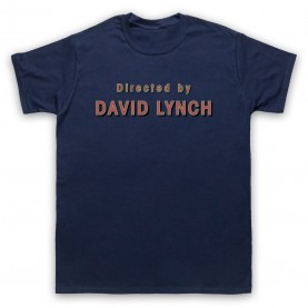 Twin Peaks Directed By David Lynch Mens Navy Blue T-Shirt