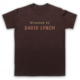Twin Peaks Directed By David Lynch Mens Brown T-Shirt