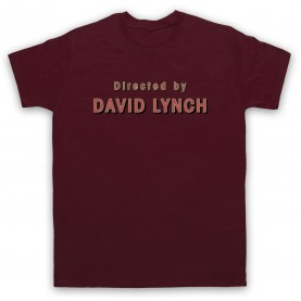 Twin Peaks Directed By David Lynch Mens Maroon T-Shirt