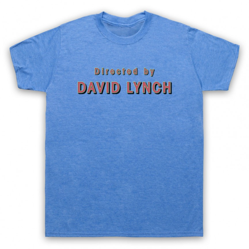 Twin Peaks Directed By David Lynch Mens Heather Blue T-Shirt