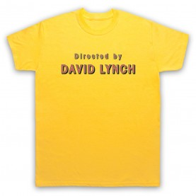 Twin Peaks Directed By David Lynch Mens Yellow T-Shirt