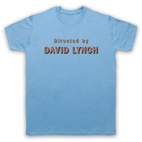 Twin Peaks Directed By David Lynch Mens Sky Blue T-Shirt