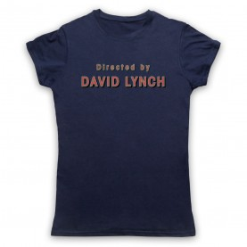 Twin Peaks Directed By David Lynch Womens Navy Blue T-Shirt