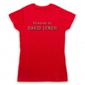 Twin Peaks Directed By David Lynch Womens Red T-Shirt