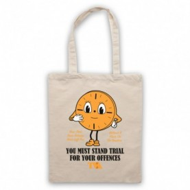 Loki Miss Minutes TVA Time Variance Authority You Must Stand Trial Natural Tote Bag