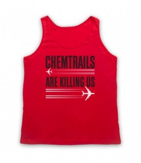 Chemtrails Are Killing Us Conspiracy Theory Protest Slogan Tank Top Vest Tank Top Vests