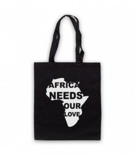Africa Needs Our Love Protest Slogan Tote Bag Tote Bags