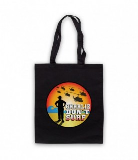 Apocalypse Now Charlie Don't Surf Tote Bag Tote Bags