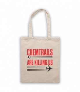 Chemtrails Are Killing Us Conspiracy Theory Protest Slogan Tote Bag Tote Bags