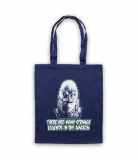 Creature From The Black Lagoon Strange Legends In The Amazon Tote Bag Tote Bags