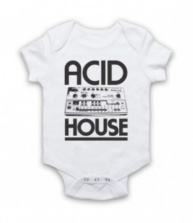 Acid House Bass Synthesizer Baby Grow Baby Grows