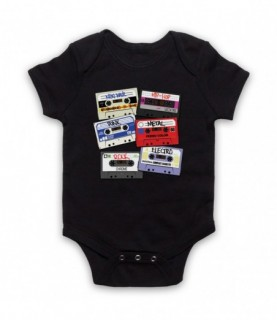Cassette Tapes Retro Mixtapes Rock Metal Punk Hip Hop Baby Grow Baby Grows