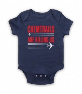 Chemtrails Are Killing Us Conspiracy Theory Protest Slogan Baby Grow Baby Grows