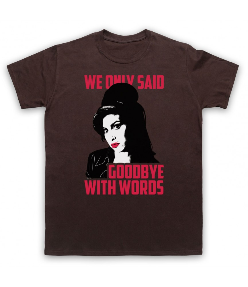 Amy Winehouse Back To Black Mens Brown T-Shirt