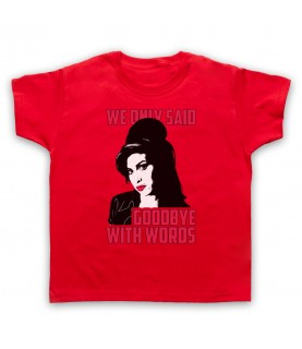 Amy Winehouse Back To Black Kids Red T-Shirt