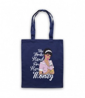 Donna Summer She Works Hard For The Money Tote Bag Tote Bags