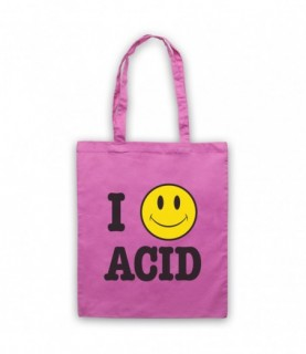 I Love Acid House Smiley Face Tote Bag Tote Bags