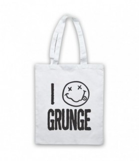 I Love Grunge Rock Music Lover Tote Bag Tote Bags