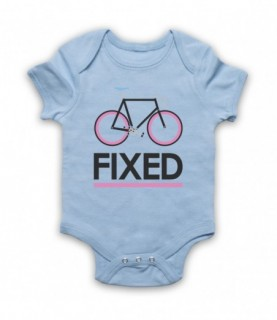 Fixed Gear Bicycle Retro Style Baby Grow Baby Grows